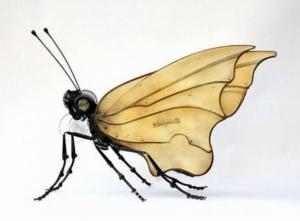 metalden kelebek